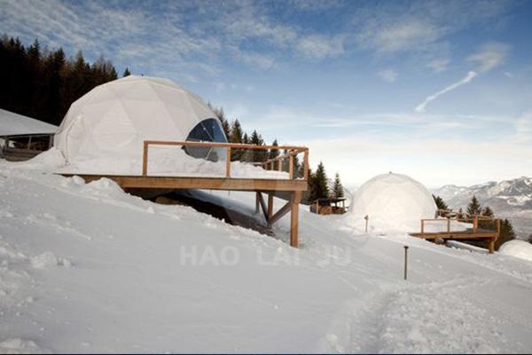景区隔热保温半球形帐篷