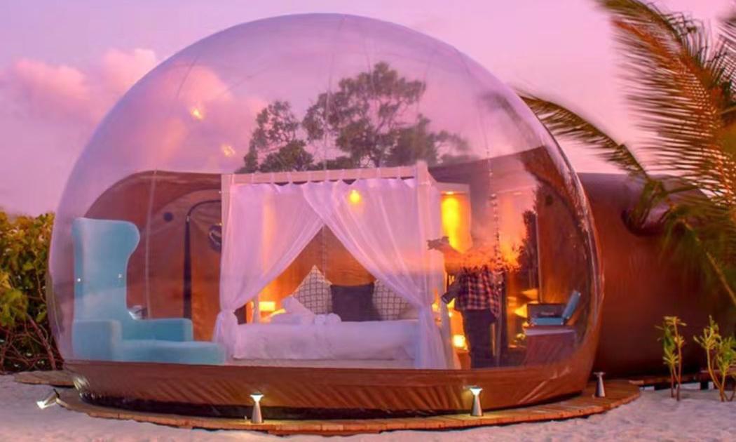 泡泡透明球形帐篷