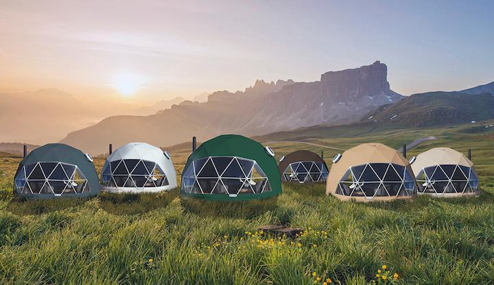 全新多款颜色的星空酒店帐篷