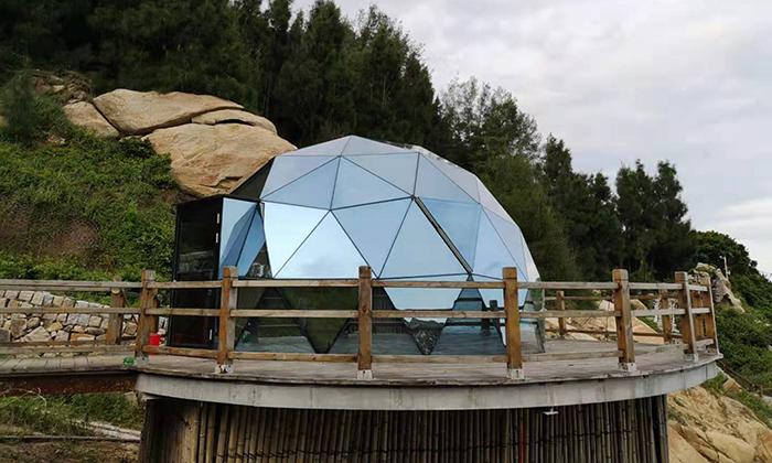 景区玻璃球形帐篷