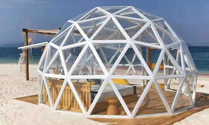 透明球形帐篷案例