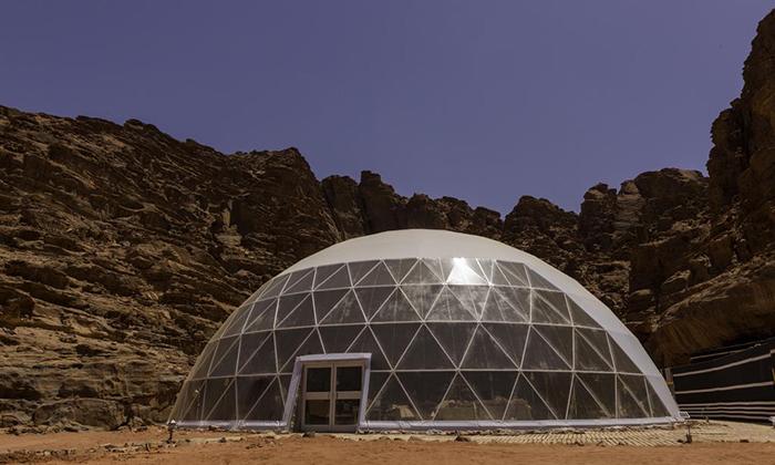 沙漠球形餐厅帐篷