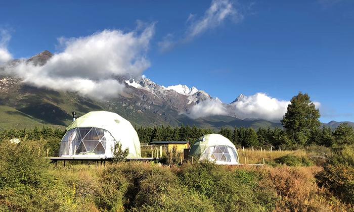 玉龙雪山7.3米景区酒店帐篷