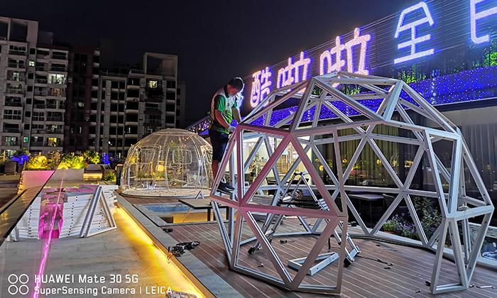 广州网红直播透明球形帐篷