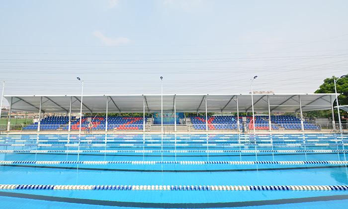 广州一中泳池遮阳篷项目