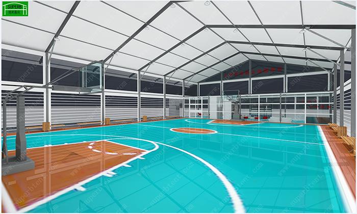 封闭式室内篮球场