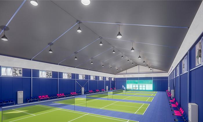 室内羽毛球场设计