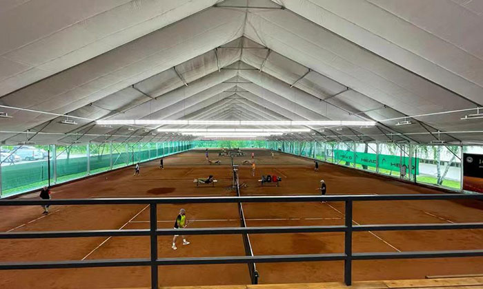 室内红土网球场篷房订制