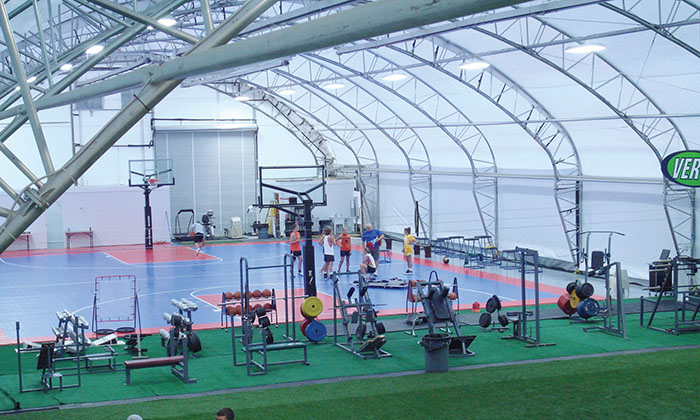 篮球篷房搭建前的准备工作